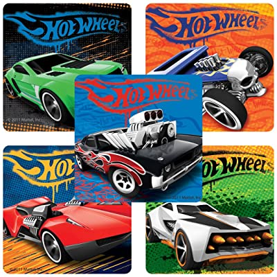 Classic Hot Wheels153; Stickers - Birthday Party Supplies & Favors - 100 Per Pack: Toys & Games