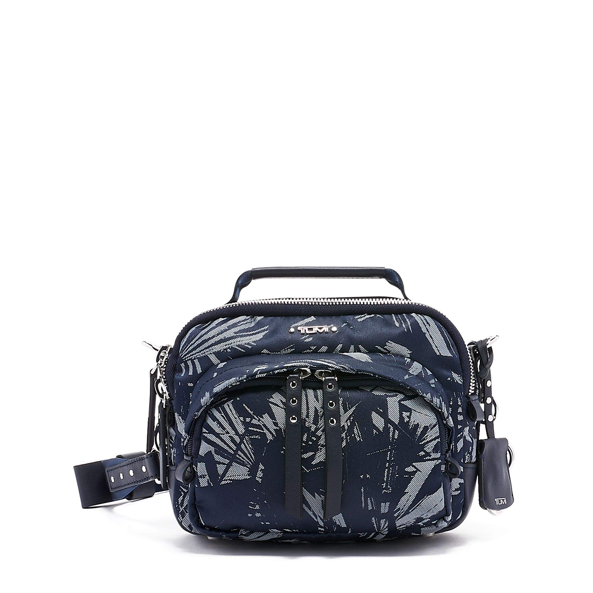 TUMI - Voyageur Troy Crossbody Bag - Over Shoulder Satchel for Women - Blue Palm Print