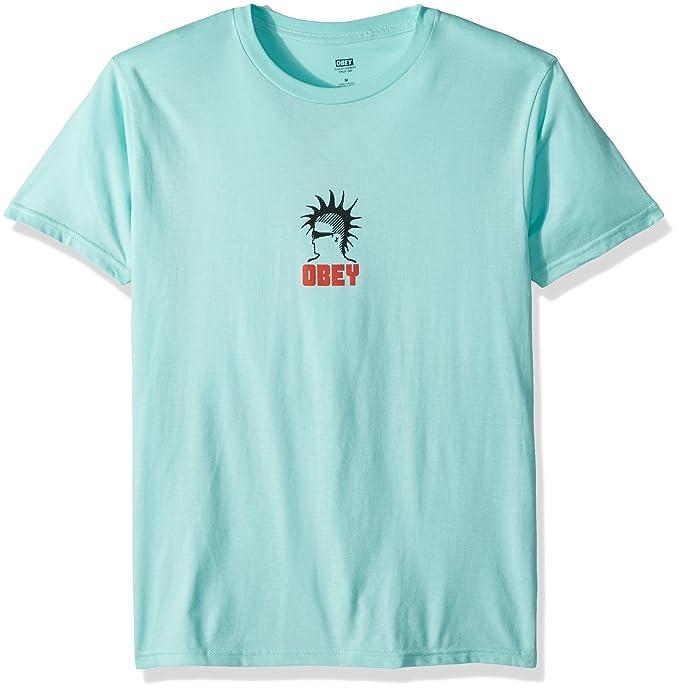 fde1235807c Amazon.com  Obey Men s Heavy Duty Creeps Short Sleeve T-Shirt  Clothing