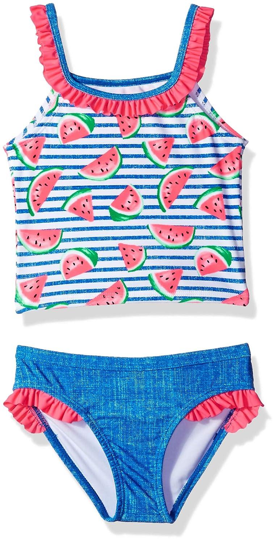 Angel Beach Little Girls Pink Tankini Swim Set with Sweet Ice Cream Print