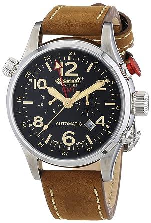 grande vente ebf73 03aeb Ingersoll - IN3218BK - Montre Homme - Automatique - Chronographe - Bracelet  Cuir Marron