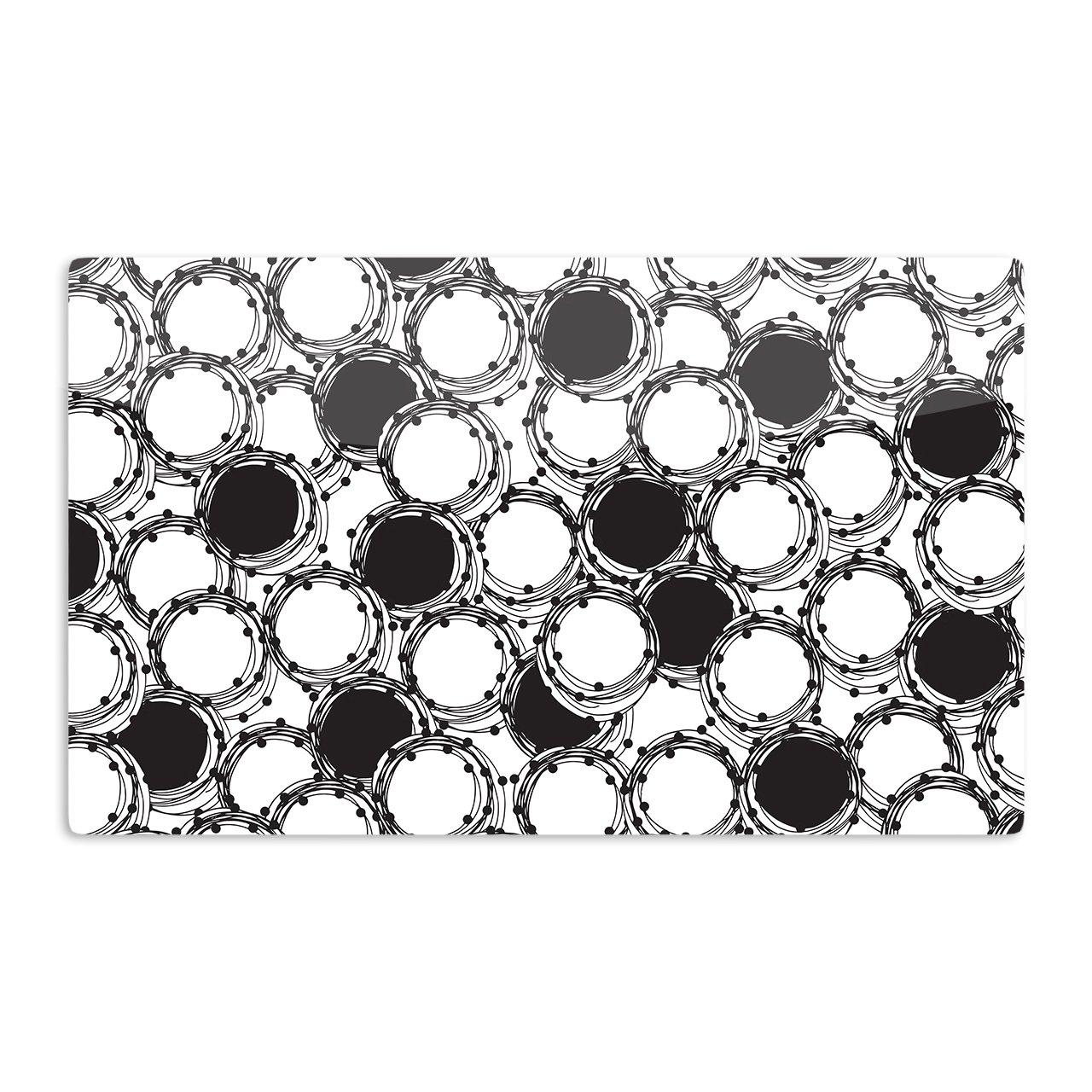 Multicolor KESS InHouse Nandita SinghBeaded Bangles Black White Artistic Aluminum Magnet 2 by 3