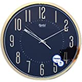 Ajanta Plastic Sweep Clock (30.3 cm x 30.3 cm x 4.5 cm, Black)