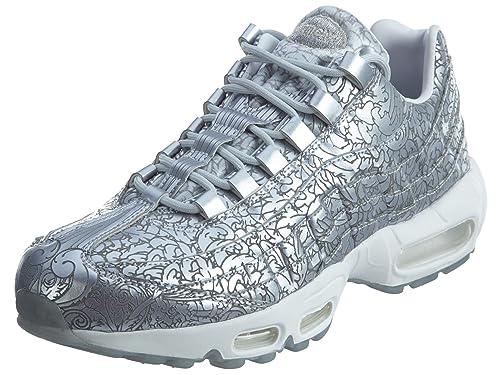 wholesale dealer 5d385 109ee Nike Air Max 95 Anniversary QS Mens Sneaker Argent 818721 001, Size43