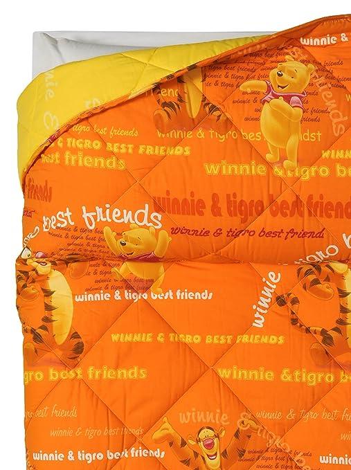 Copriletto Winnie The Pooh Caleffi.Disney By Caleffi Trapunta Winnie Pooh Gaia Arancione Singolo