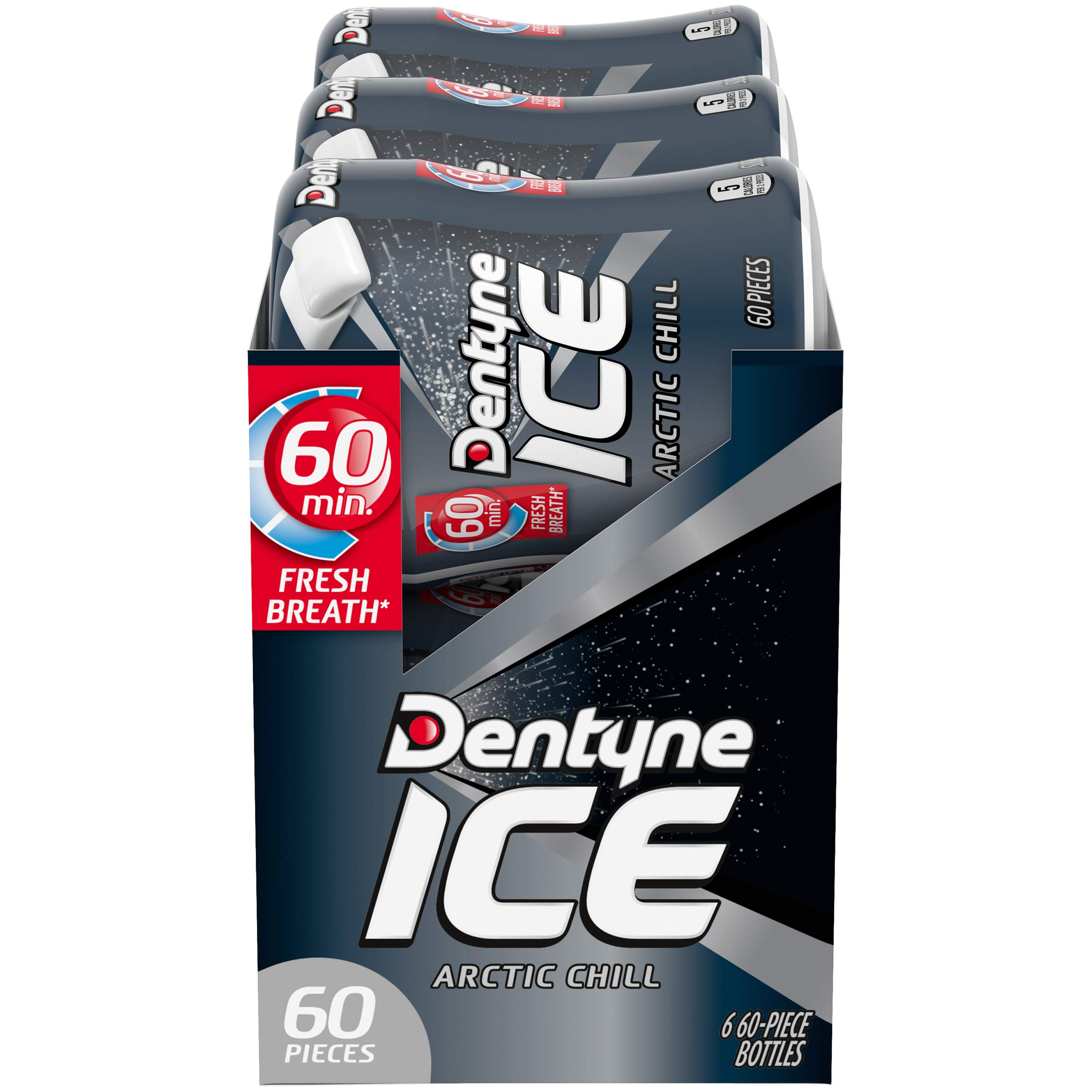 Dentyne Ice Sugar Free Gum (Arctic Chill  60 Piece  Pack of 6) by Dentyne