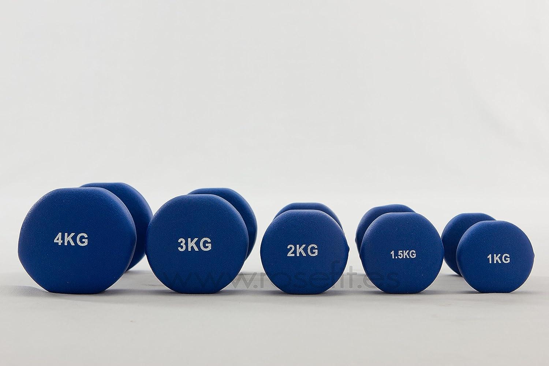Juego Mancuernas de Vinilo marca Rosefit 114 kg total - 0.5 kg hasta 10 kg: Amazon.es: Deportes y aire libre