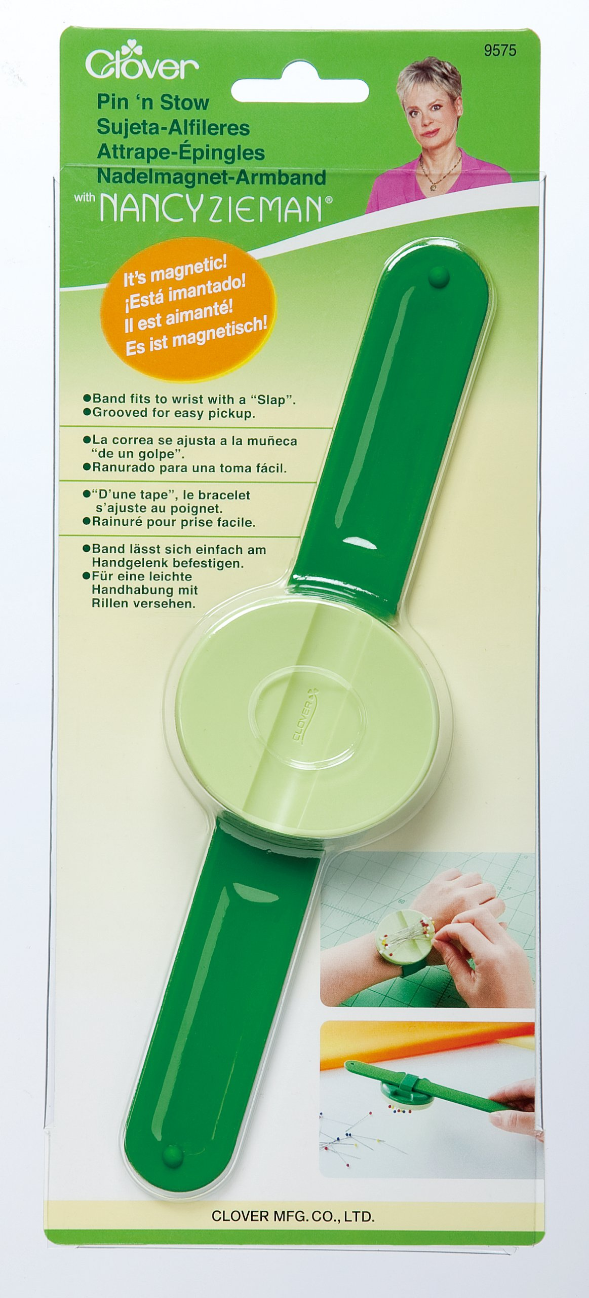 CLOVER 9575 Pin 'n Stow Magnetic Wrist Pin Caddy by CLOVER