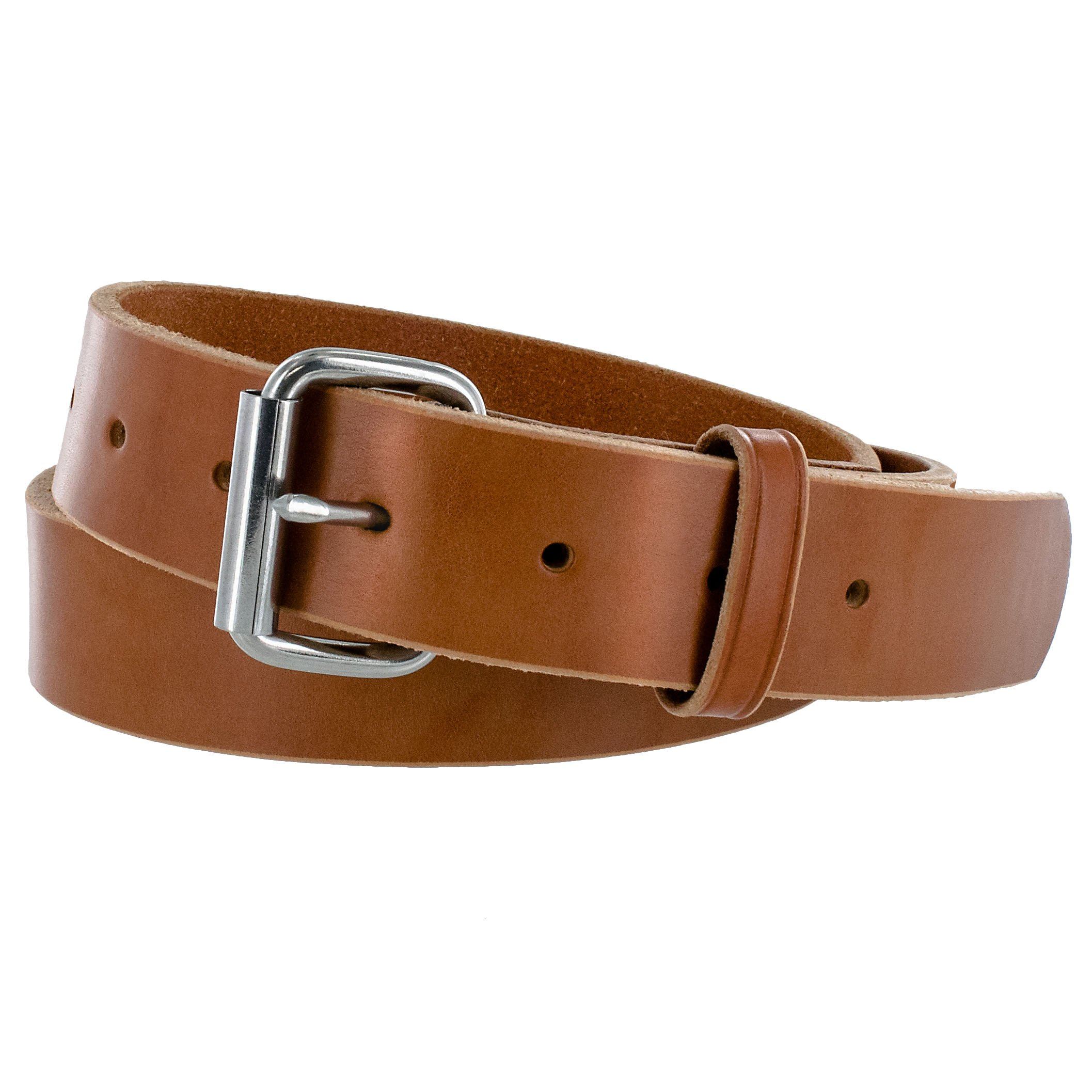 Hanks Gunner - USA Made Concealed Carry CCW Leather Gun Belt - 100 Year Warranty - 14 Ounce - Natural - 46 by Hanks Belts
