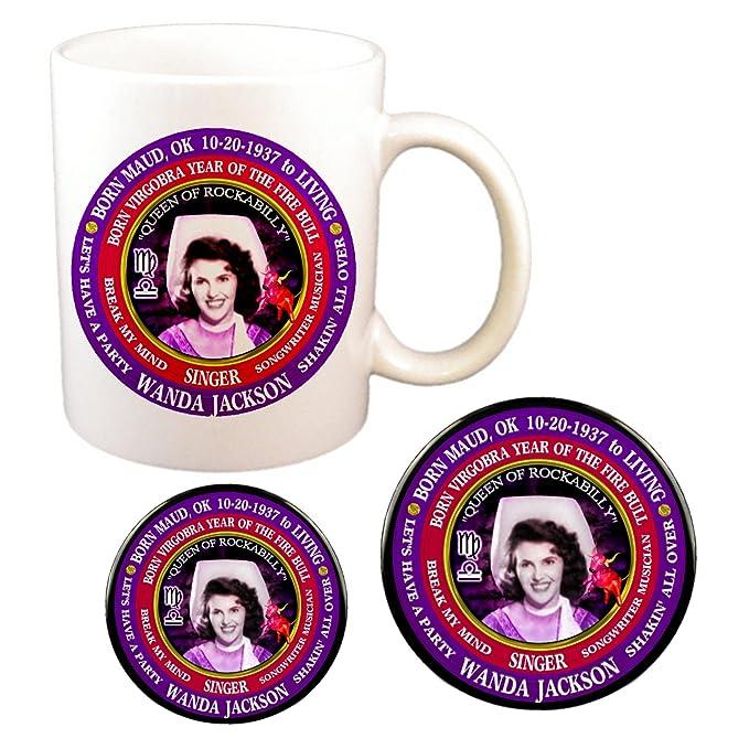 Amazon com   Wanda Jackson Country Singer Cup + Magnet + Pin