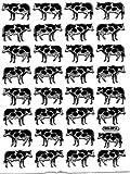 COW Animal sticker decal Metallic Glitter 1 sheet Dimensions: 13,5 cm x 10 cm