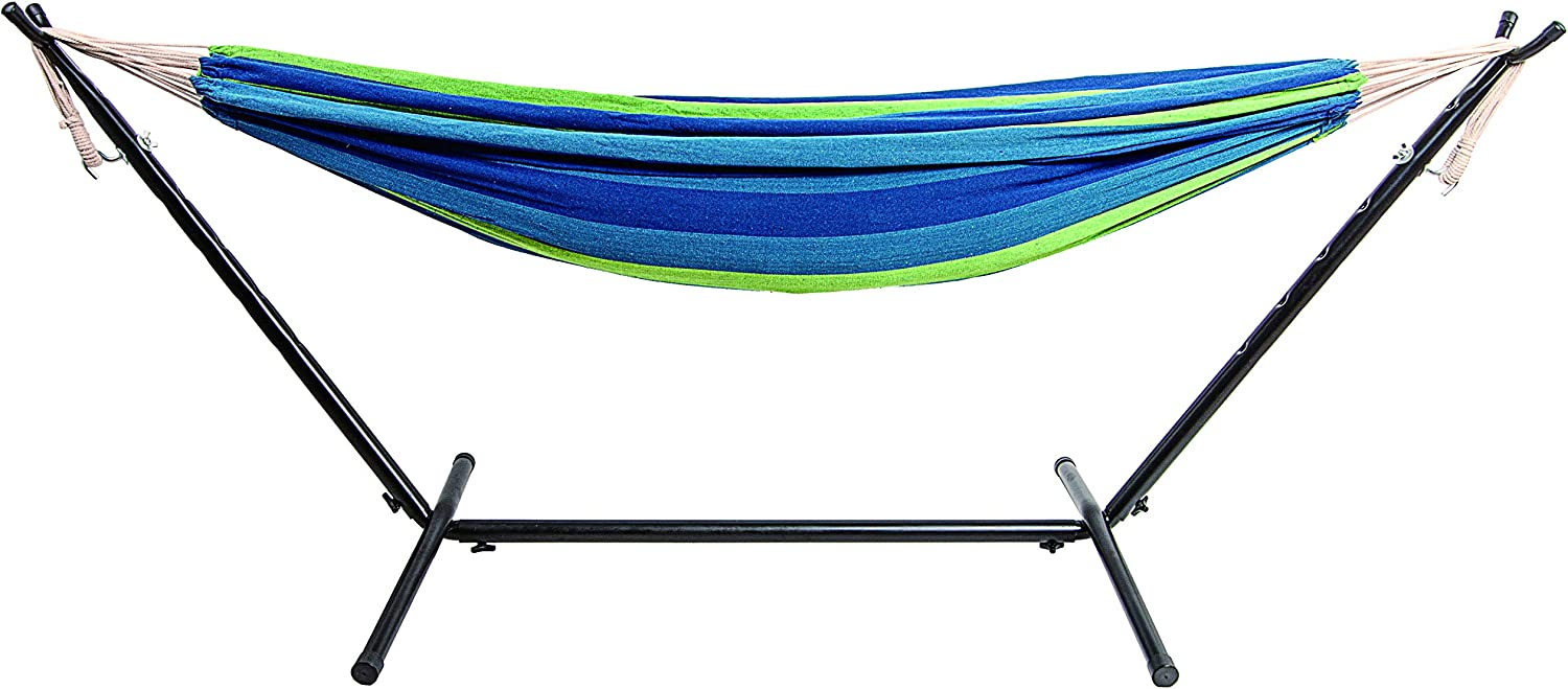 450-Pound Capacity BalanceFrom Double Hammock with Space Saving Steel Stand and Portable Carrying Case