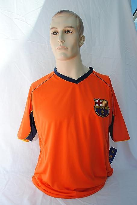 FCB FC Barcelona Cuello en V, Naranja Camiseta de la ...