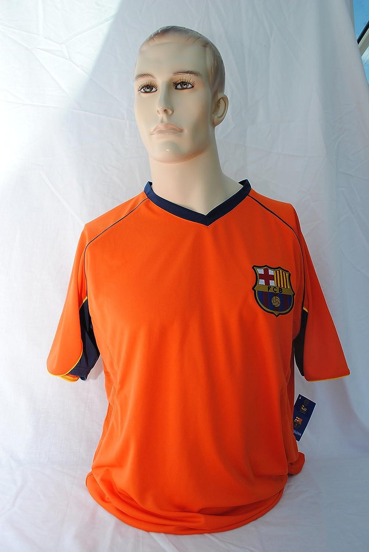 FCB FC Barcelona Cuello en V, Naranja Camiseta de la selección ...