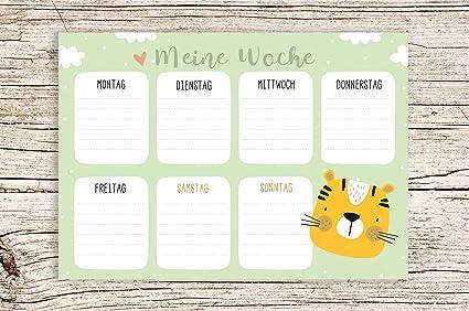 Mis Semana verde con Tiger Diseño – Bloque A5 Semana Calendario ...