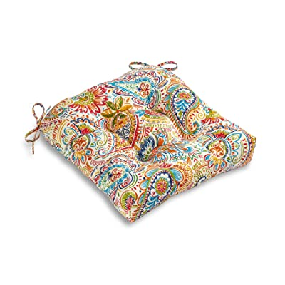 South Pine Porch AM4800-JAMBOREE Jamboree Paisley Outdoor 20-inch Seat Cushion : Garden & Outdoor