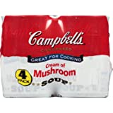 Campbell's Condensed Soup, Cream of Mushroom, 10.5 Ounce (Pack of 4)