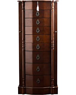 Amazoncom Hives and Honey LANDRY Jewelry Armoire Black Distressed