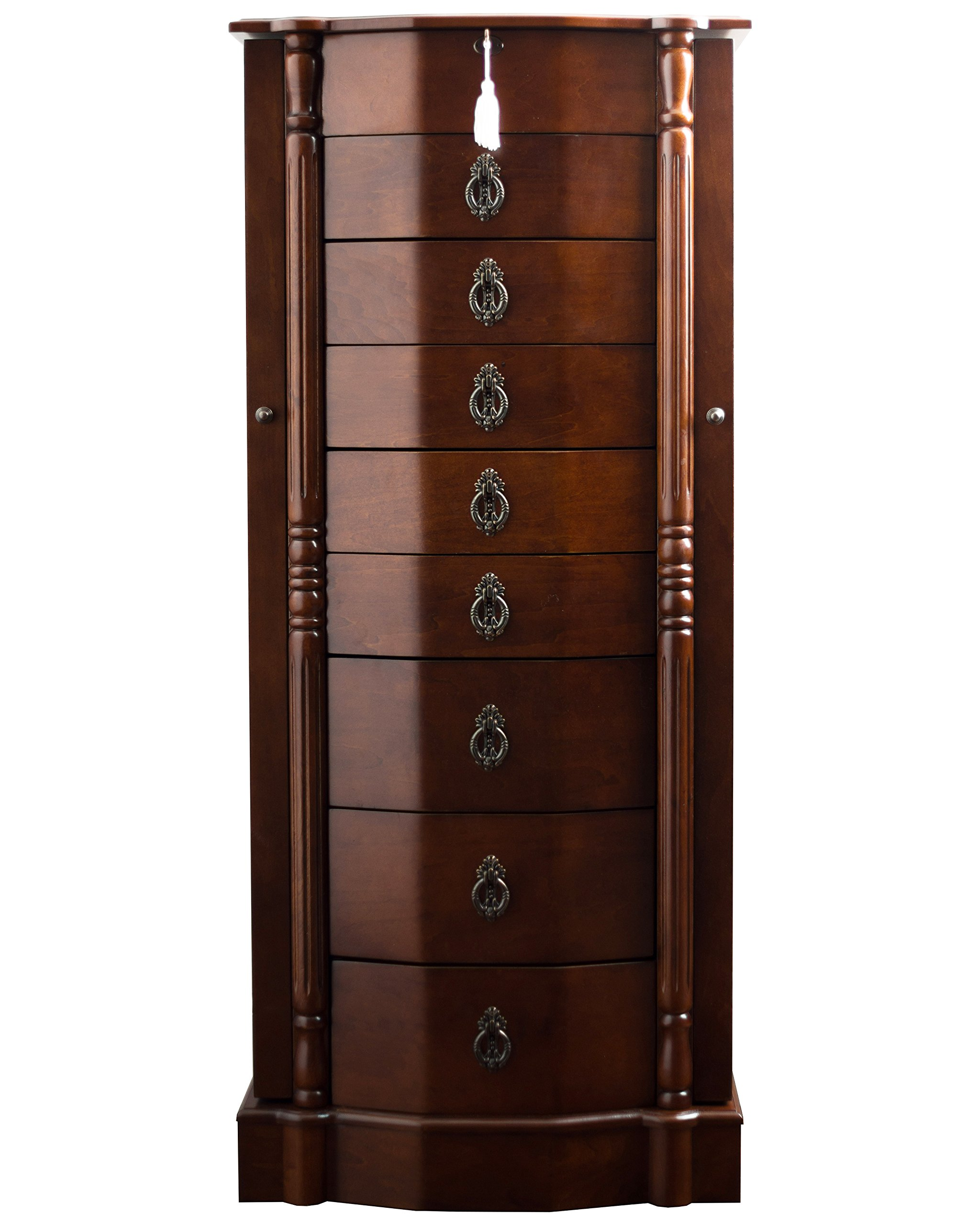 Hives and Honey Sheffield Standing Armoire Jewelry Cabinet, walnut by Hives and Honey