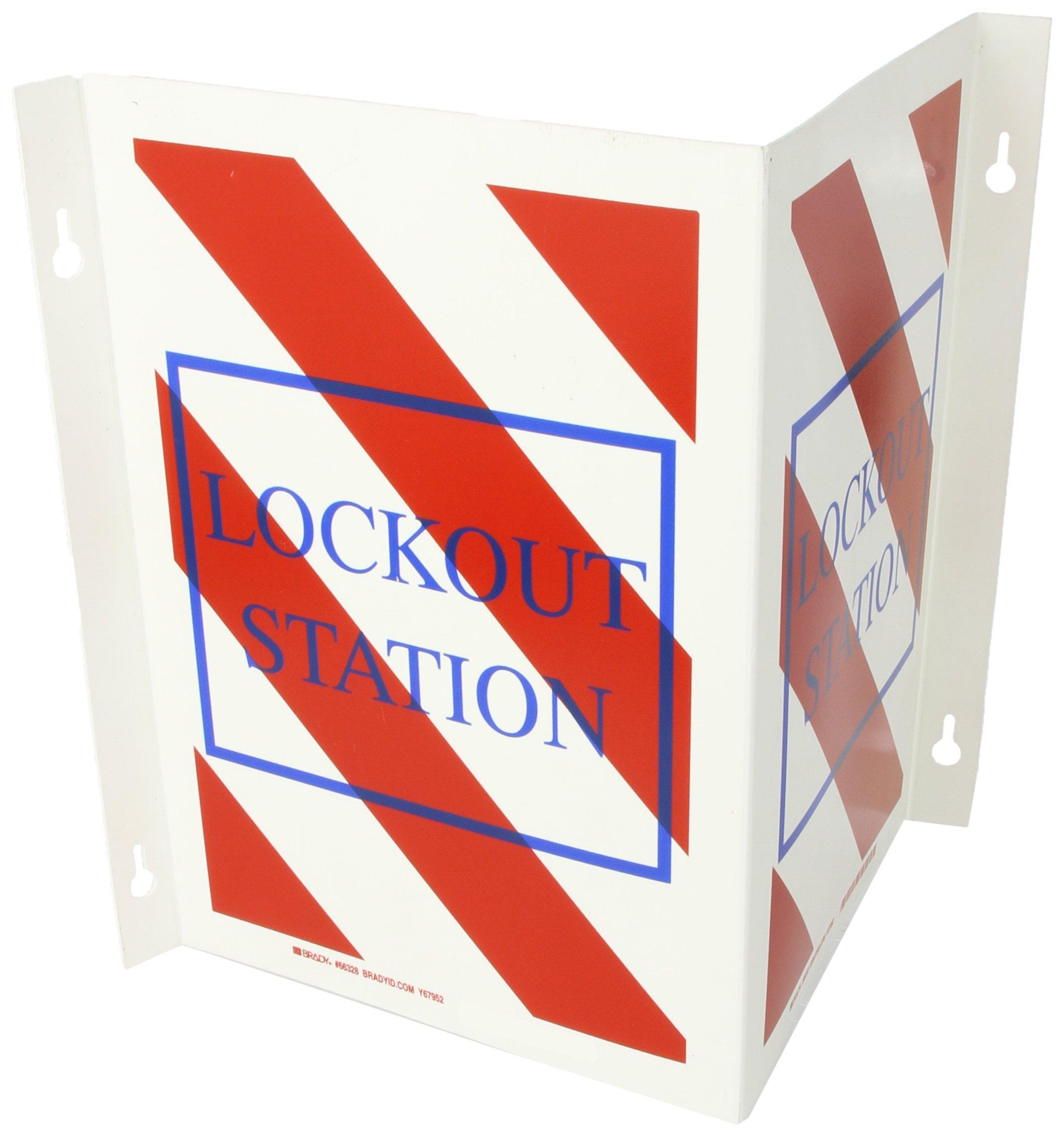Brady 66328 8'' x 9'' x 1'' Flange (Over Width 14'') Size Lockout Sign