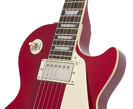 Epiphone Ltd Ed Les Paul Standard Plustop PRO - Guitarra eléctrica, Trans Black (Amazon Exclusivo): Amazon.es: Instrumentos musicales