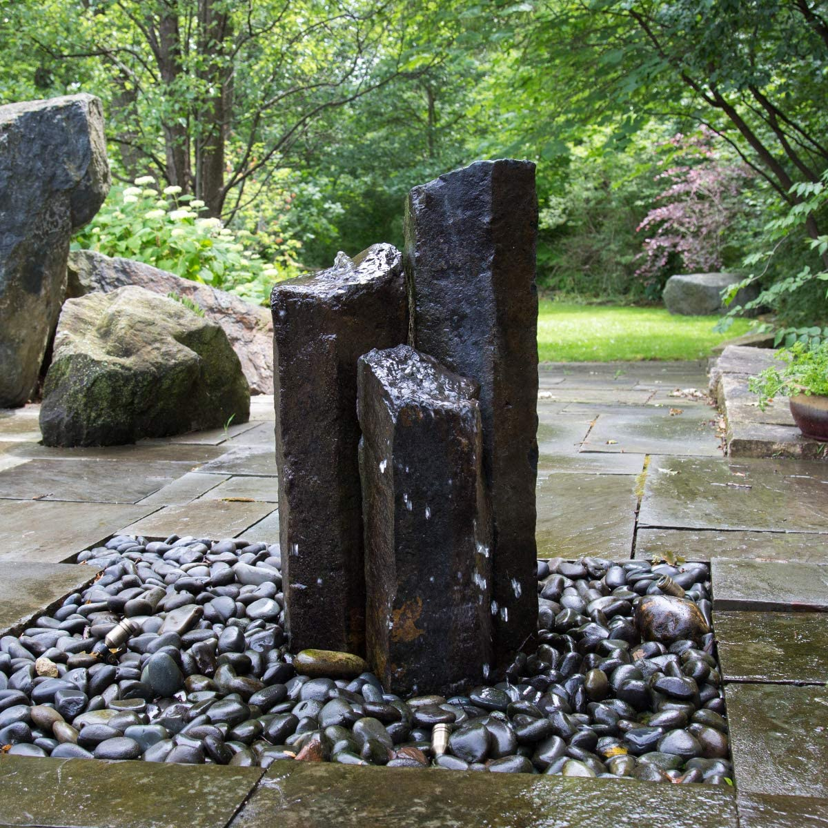 Aquascape Mongolian Basalt Stone Fountain Columns Set Of 3 24 Inch 30 Inch 36 Inch 58062 Amazon Ca Patio Lawn Garden