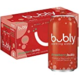bubly Sparkling Water, Strawberry, 12 fl oz Cans (Pack of 8))