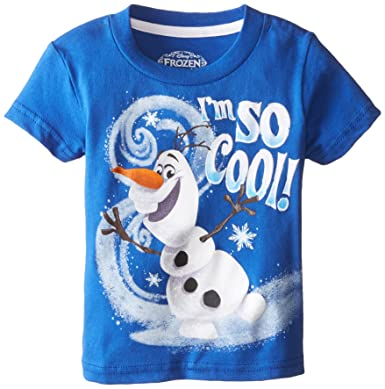 270710d05bbb Amazon.com: Disney Boys' Frozen Olaf I'M So Cool T-Shirt: Clothing