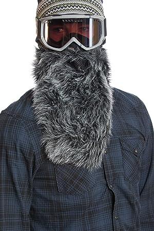 BEARDSKI – Wolf Máscara de esquí con barba – Negro