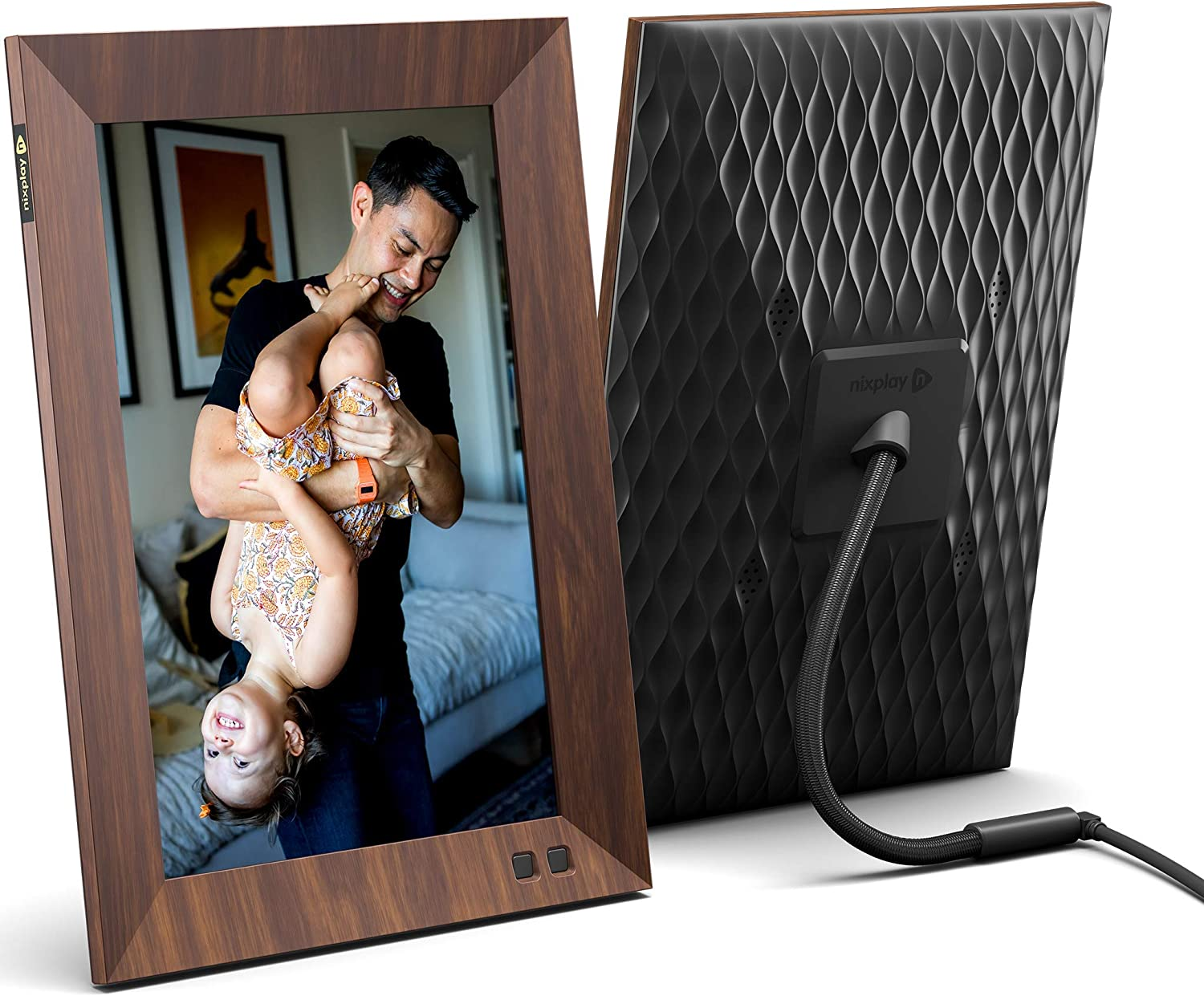 Nixplay 10.1Inch Wood Effect Smart Digital Picture Frame$142 Coupon