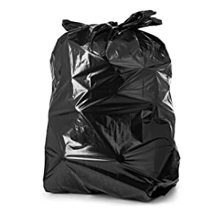 55 Gallon Trash Bags, 50 Count Large Black Garbage Bags, Extra Long Non-Slip Design, Durable Large Trash Bags, Large Black Trash Bags Tear And Leak Resistant