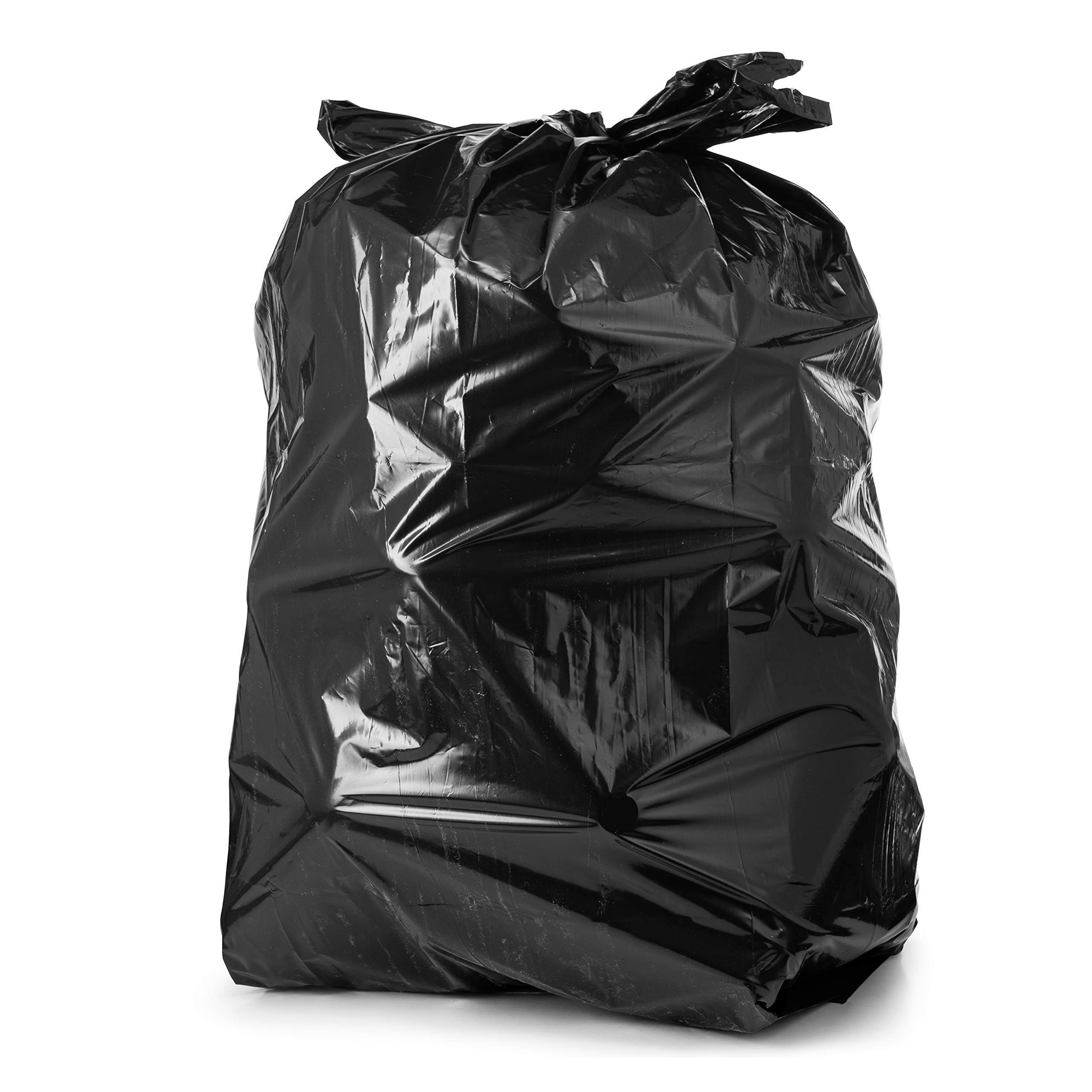 55-60 Gallon Trash Bags, 100/Count, Large Black Garbage Bags, 38'' W x 58'' H, 1.2 Mil by Tasker (Image #6)