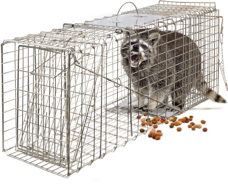 "Amazon OxGord Live Animal Trap 32"" X 12"" X 12"" Catch Release"