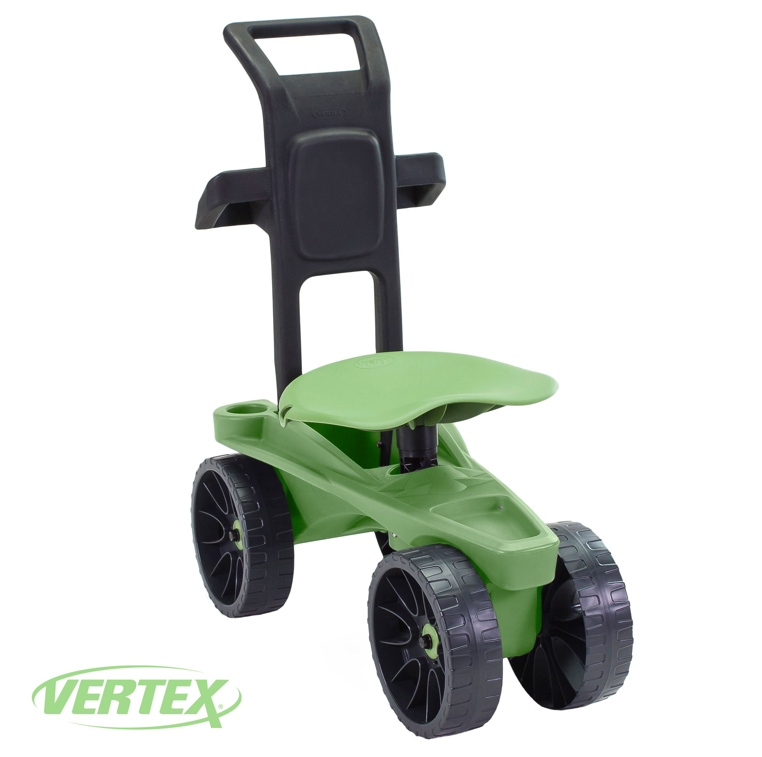 Easy Up Deluxe XTV Rolling Seat and Scoot Gardening Scooter - Adjustable Swivel Seat, Heavy Duty Wheels, and Ergonomic Design To Assist Standing, Sitting, and Bending Over Made in the USA