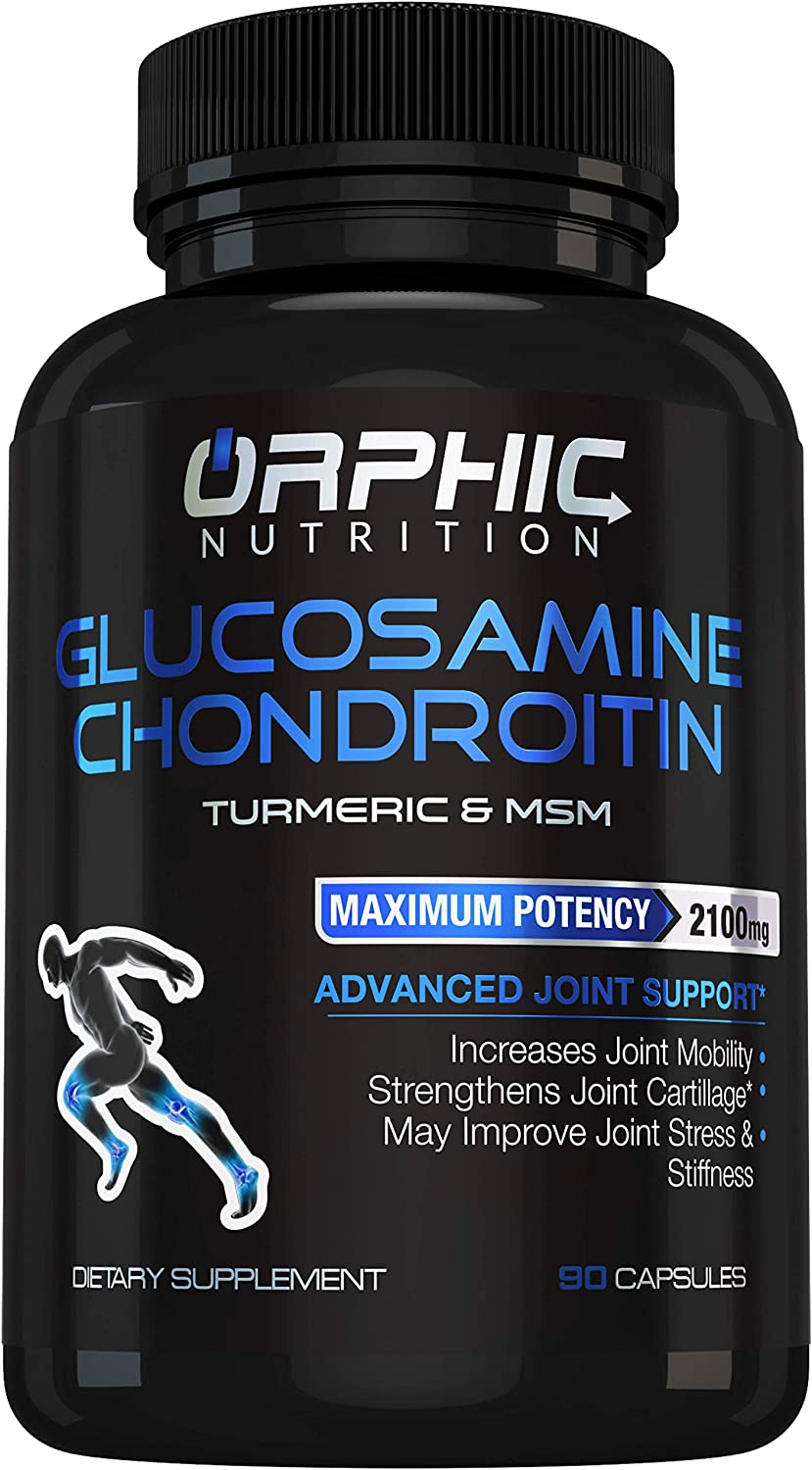 Glucosamine Chondroitin - Turmeric & MSM 2100MG Anti Inflammatory Joint Support Supplements for Pain Relief Joint Cartilage Health - Stiffness & Arthritis Relief for Men, Women - Increases Mobility
