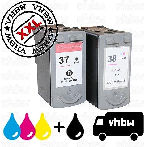 Pack Ahorro Cartuchos de Tinta reciclados Negro & Color Compatible con Canon PG-37, CL-38: Amazon.es: Electrónica
