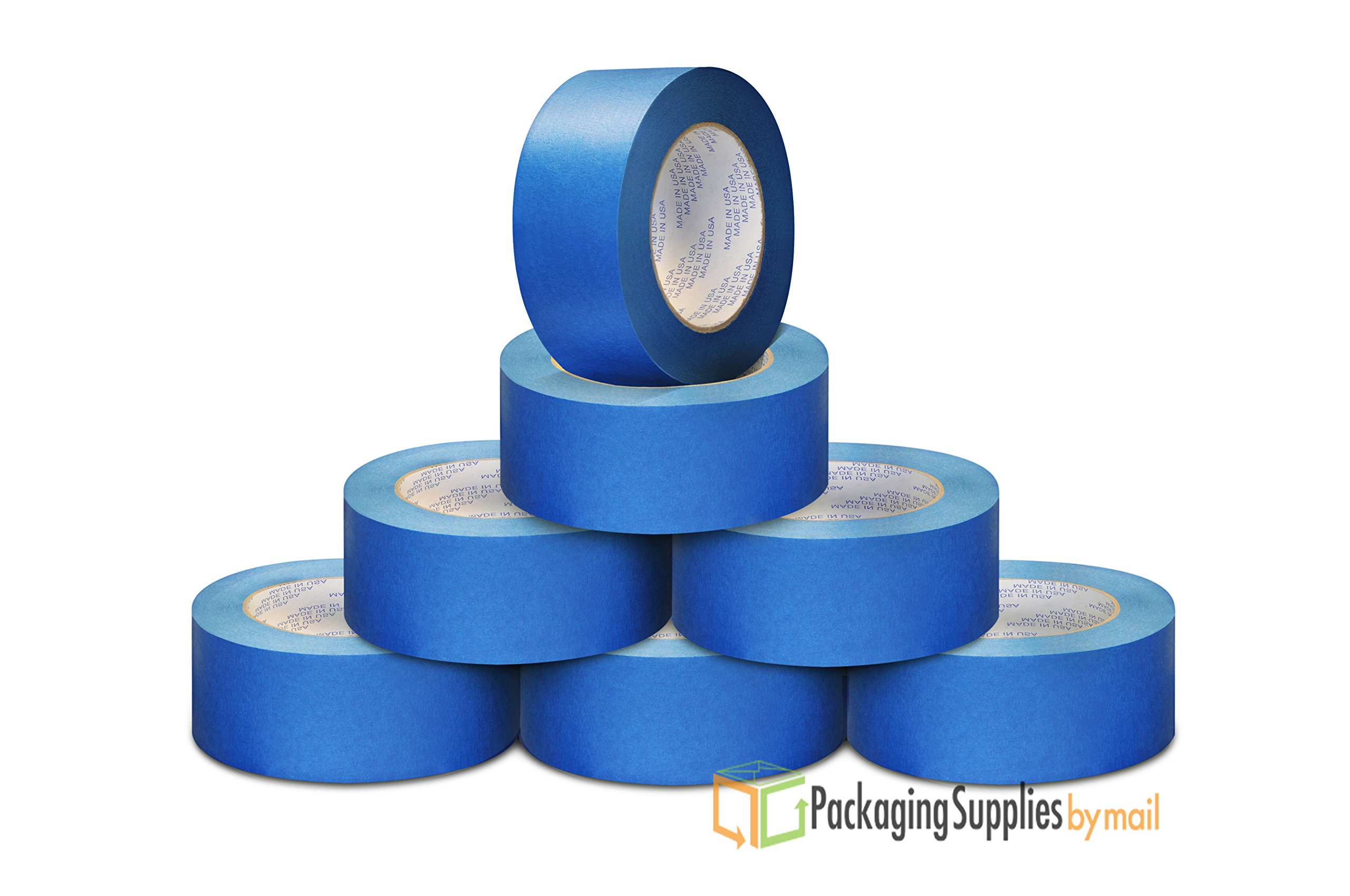 32 Rolls 1 1/2'' Blue Painters Masking Tape Made in USA 5.6 Mil 60 Yards by PackagingSuppliesByMail