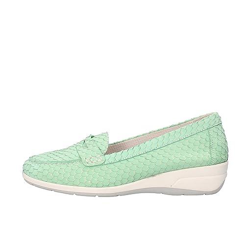 SUSIMODA Mocasines Mujer Piel de pitón Verde 37 EU: Amazon.es: Zapatos y complementos