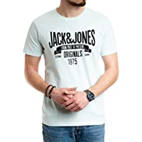 Jack and Jones herr t-shirt män tryck tröja bomull kortärmad