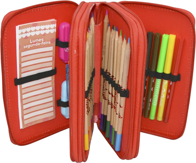 Prodigiosa: Las aventuras de Ladybug- Estuche Triple, con Kit Completo de papelería (Cife Spain 41410): Amazon.es: Juguetes y juegos