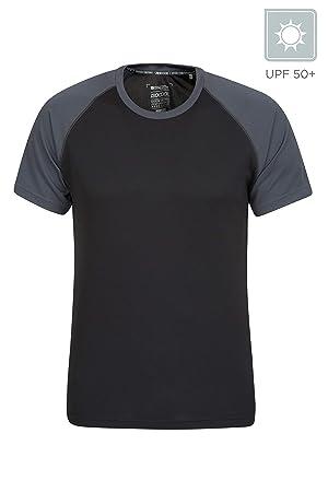 796c1fae2 Mountain Warehouse Endurance Mens T-Shirt – Breathable Summer Tee, UPF30  Protection, Lightweight
