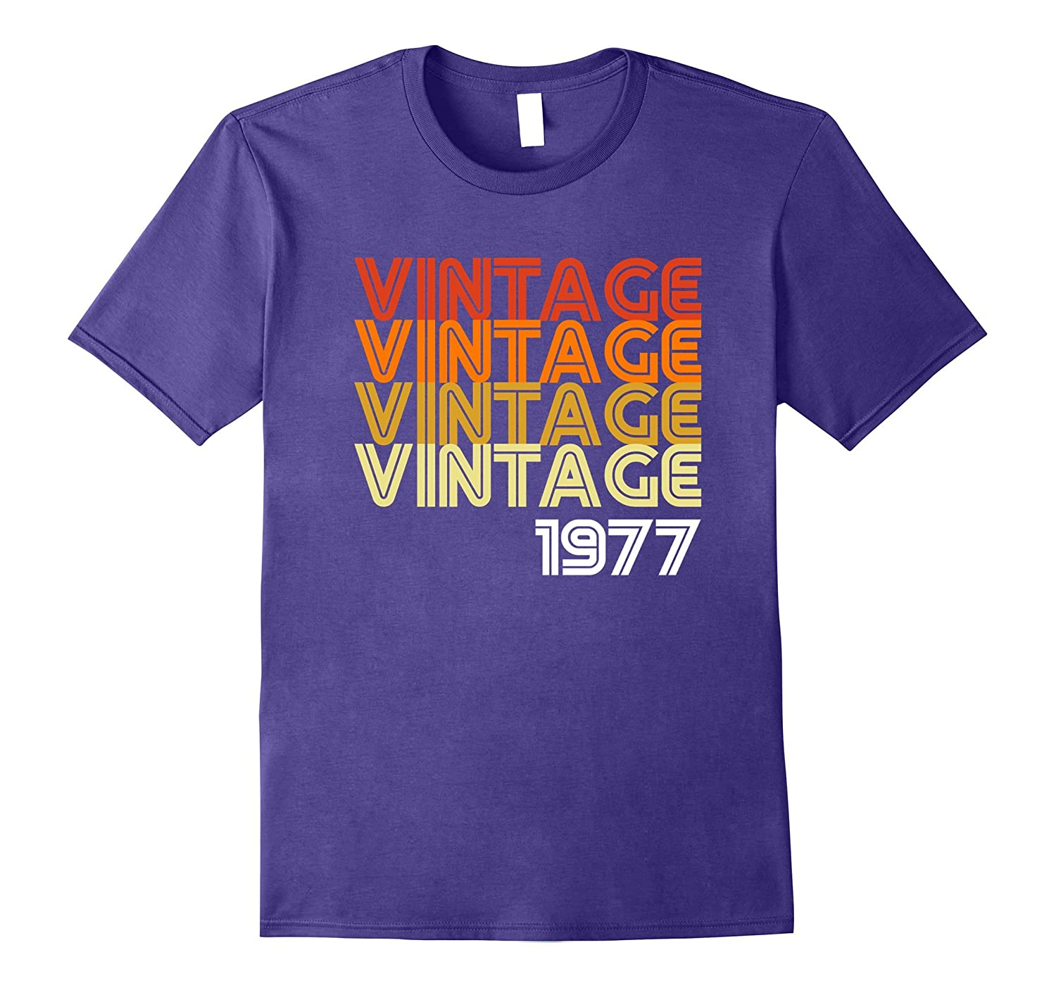 Vintage 1977 Funny Old School 40th Birthday Gift T-shirt-Rose