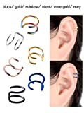 BBTO 12 Pieces Stainless Steel Ear Cartilage Cuff