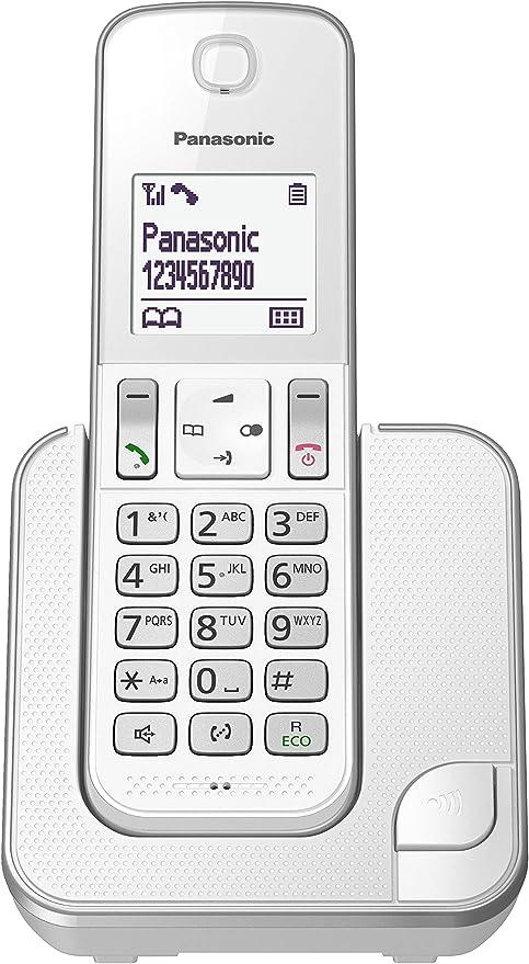 Panasonic KX-TGD310 - Teléfono (DECT, Escritorio, LCD, AAA, Polifónico) Color Plata/Blanco [Versión Importada]: Amazon.es: Electrónica