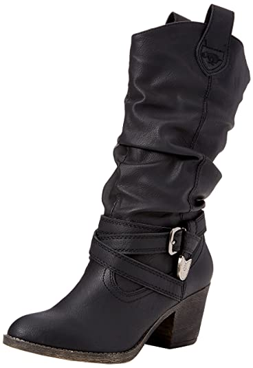 Tallie, Bottes Motardes Femme, Noir (Black Black), 36 EURocket Dog
