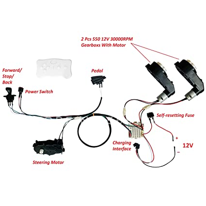 Phenomenal Amazon Com E Fast Kids Ride On Car 12V Diy Harness Transform Wiring Digital Resources Timewpwclawcorpcom