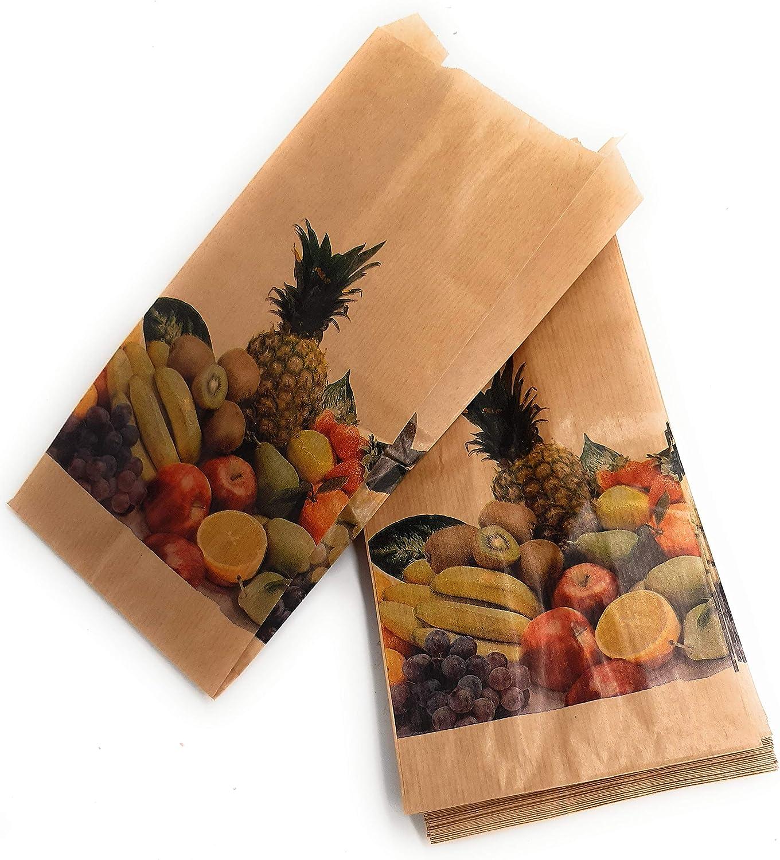 14 x 29 cm Sacchetti in carta kraft anti-umidit/à per frutta e verdura