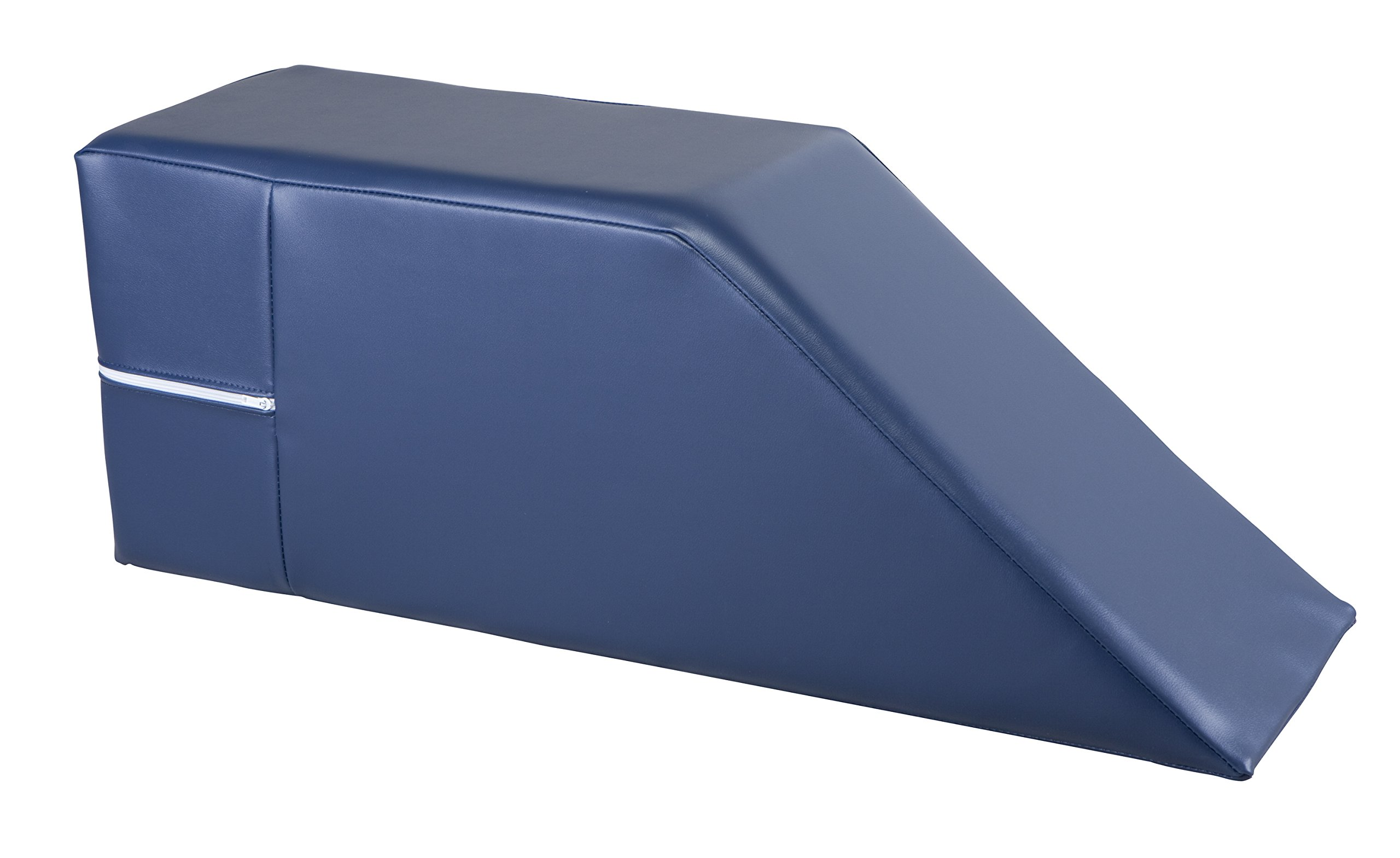 Armedica Vinyl Therapy Bolsters - 10''x32''x12'' Flat Top Wedge - Imperial Blue