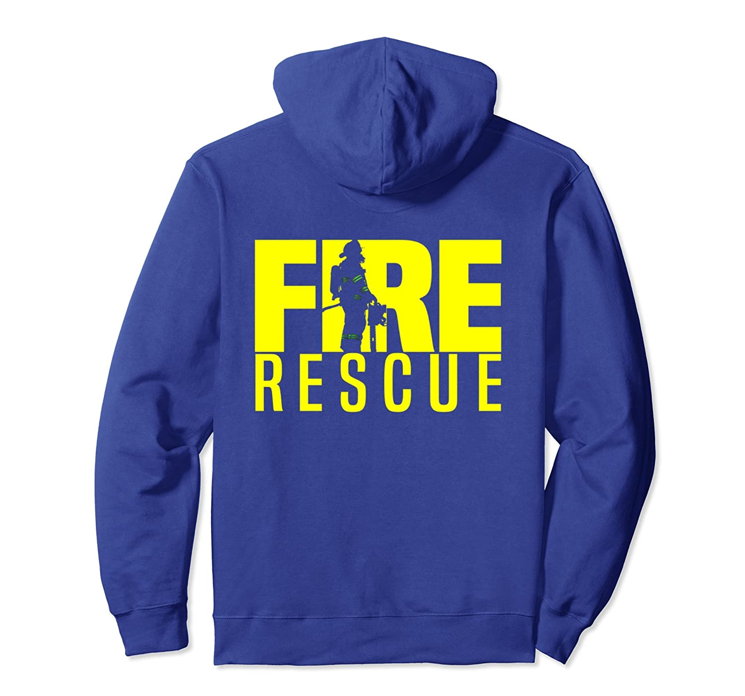 Fire Rescue Department Hoodie for Firefighters Firemen EMS-azvn
