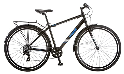 "e0eea7a06ac Schwinn Continental Commuter Men's 7 Speed 700C Wheel Bicycle, Black,  18""/Medium"